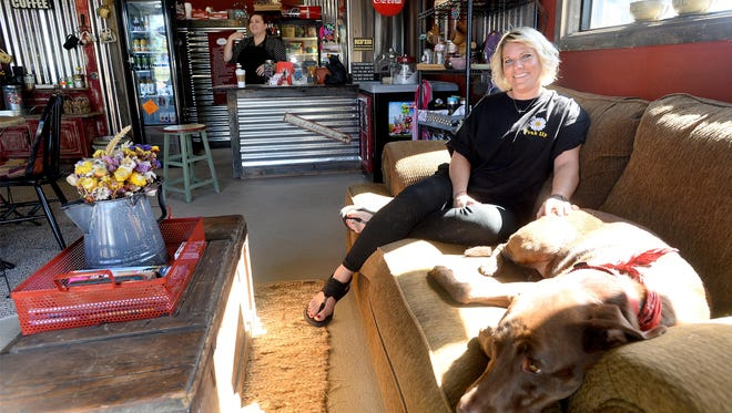Amy Roberts, owner of Amy's Morning Perk, opened a new location at 721 6th St. SW in the former Ryan's Station building.