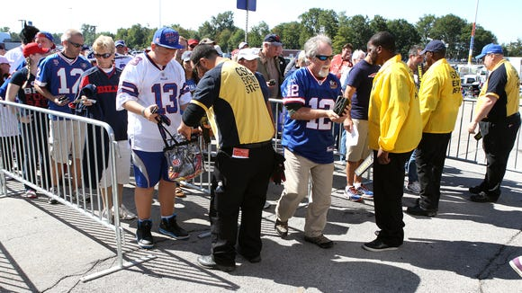 Security at Ralph Wilson Stadium was increased this season with new rules banning larger bags.