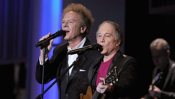 Art Garfunkel (left) performs in Wilmington Friday