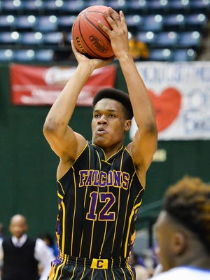 Columbus' Robert Woodard scored 6 points and grabbed eight rebounds in the Falcons' Class 6A championship win.