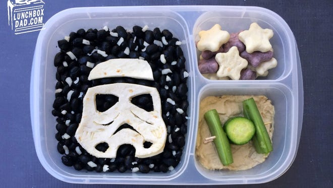Beau Coffron's family loves May the 4th because it's national Star Wars Day. He made this lunch for his daughter to celebate