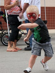 Brennon Michael, 3, was in full Spider-Man mode after