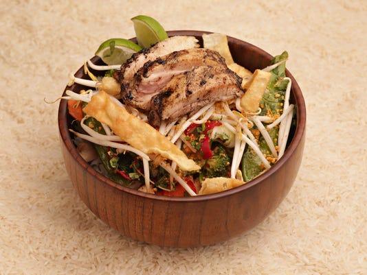 Chicken rice bowl made by Foosia Fresh