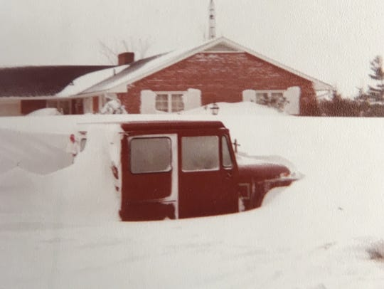 Chuck Ward was driving home when the blizzard hit.