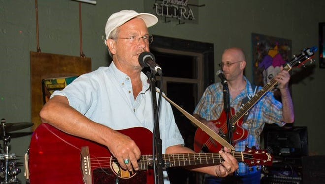 Hal Shows (L) and Clay Byers at Purple Willie Jam I, August 2015.