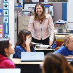 Teacher Cindy Ufer laughs with her fourth grade class at Werner Elementary on Thursday, April 7, 2016. Nearly a quarter of Colorado's teacher graduates come from UNC.