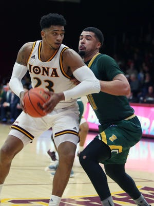 Iona's Jordan Washington (23) during game against Siena at Iona College in New Rochelle Feb. 7, 2017.