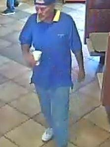 An imaged captured by a security camera at the McDonald's.