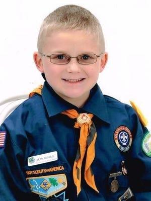 Wolf Cub Scout Sean Nichols.