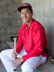 The Battle Creek Bombers' Min Hsia is a 19-year-old pitcher from Kaohsiung, Taiwan.