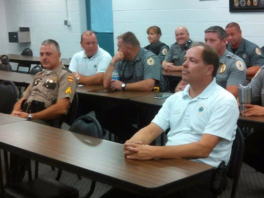 Anderson County law enforcement officers, emergency
