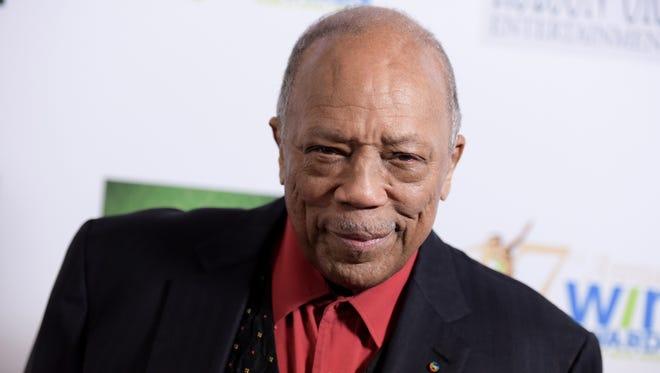 Quincy Jones in Los Angeles on Feb. 10, 2016.