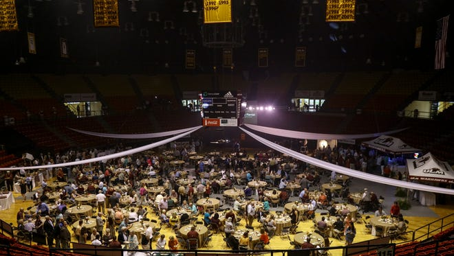 """ULM host the inaugural event """"The Pursuit"""" on Thursday night inside Fant-Ewing Coliseum."""
