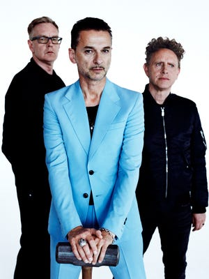Andy Fletcher, left, Dave Gahan and Martin Gore of Depeche Mode.