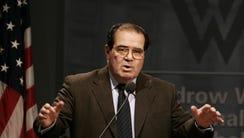 Supreme Court Associate Justice Antonin Scalia in March