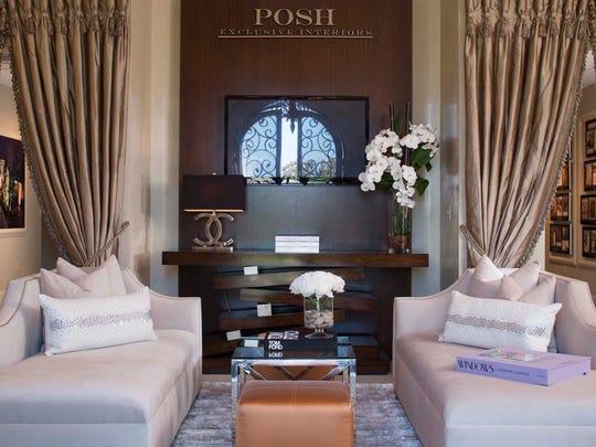 Interior of POSH Interiors corporate offices, Lafayette, Louisiana.