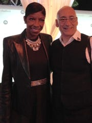 "Allan Rich with Natalie Cole, for whom he wrote ""I Live For Your Love."""