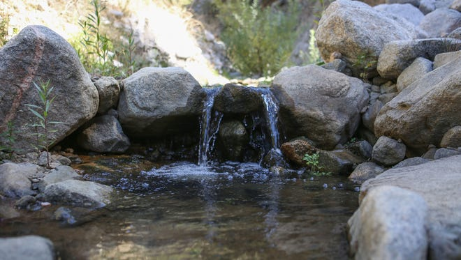 The remaining water that Nestle has not harvested from higher elevations flows down Strawberry Creek in the San Bernardino National Forest, October 11, 2017.