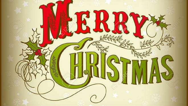 10937948-Vintage-Christmas-Card-Merry-Christmas-lettering--Stock-Vector