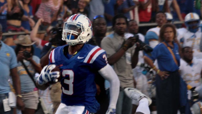 Louisiana Tech senior wide receiver Paul Turner had a pair of touchdowns in Saturday's win over Southern.