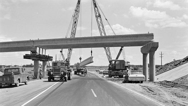 Work was being done 50 years ago this week on a section of what was to become Interstate Highway 94. That stretch between Sauk Centre and Melrose officially opened in 1968.