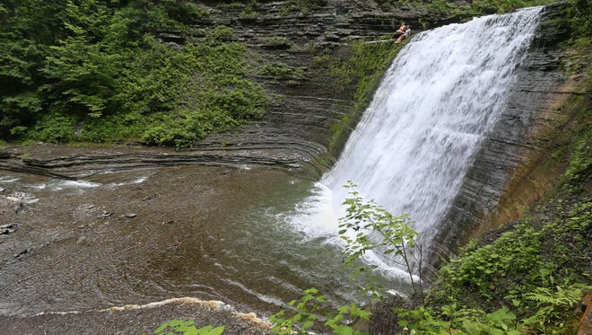 The Lower Falls are one of three waterfalls at Stony Brook State Park in Dansville.