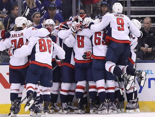 USP NHL: STANLEY CUP PLAYOFFS-WASHINGTON CAPITALS S HKN TOR WSH CAN ON