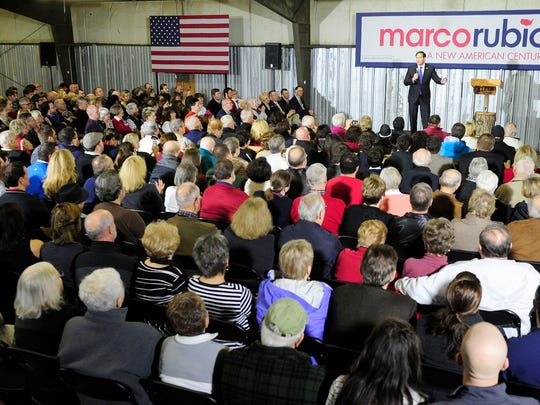 Republican presidential candidate Marco Rubio speaks