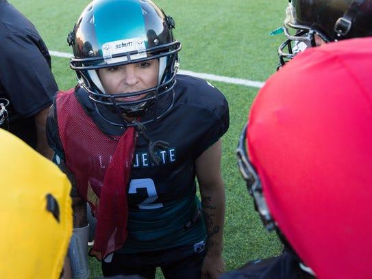 Erin Boyd, quarterback for La Muerte de Las Cruces,