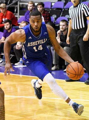 Ahmad Thomas (14)  enters his final regular-season home game as one of two players in BIg South Conference history with 1,000 points, 600 rebounds, 200 assists and 200 steals.