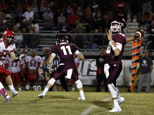 Hardin County's Rivers Hunt throws the ball against