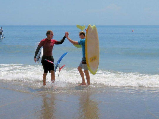The Waterman's Challenge featured the first Foil Surf