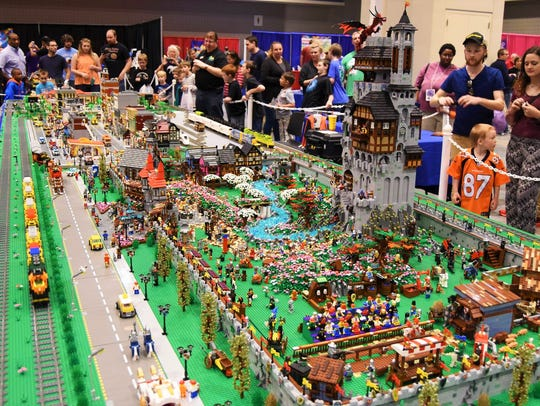 The Fan Zone at BrickUniverse is a popular attraction