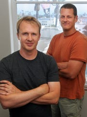 Jeff Green (left), CEO of Trade Desk, and co-founder Dave Pickles founded the online advertising technology company in 2009 in Ventura.