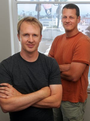 Jeff Green (left), CEO of Trade Desk, and co-founder Dave Pickles founded the online advertising technology company in 2009 in Ventura. It launched an IPO Wednesday.