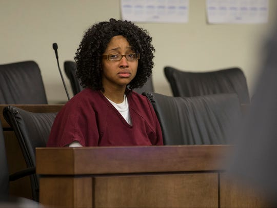 A bail hearing takes place for Monique Moore, accused