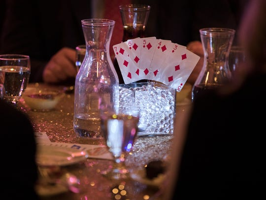 A royal flush is seen at a table Thursday, March 15,