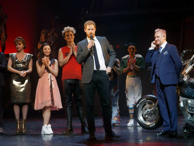 Prince Harry addresses the audience alongside the show's