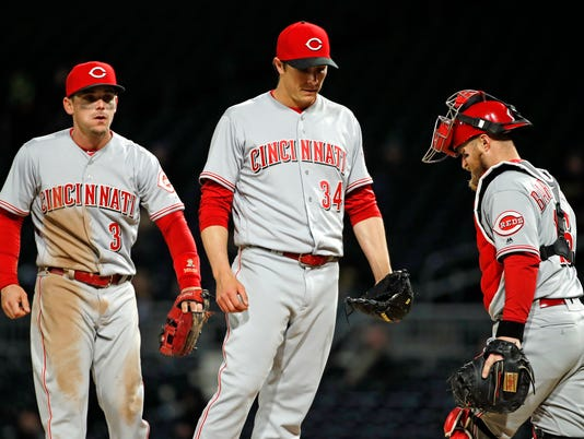 Homer Bailey, Scooter Gennett, Tucker Barnhart