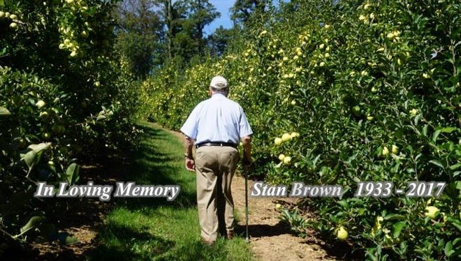 Brown's Orchards announced Saturday, Aug. 12, on its Facebook page that founder Stan Brown has died.
