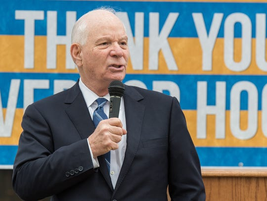 U.S. Sen. Ben Cardin speaks to an audience during a