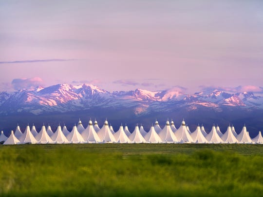 Denver International Airport is pictured.