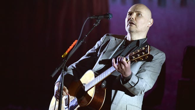 Billy Corgan of The Smashing Pumpkins performs at the Theatre at Ace Hotel last year in Los Angeles, California.