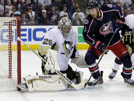 NHL Marc-Andre Fleury vs. Columbus 2014 playoffs
