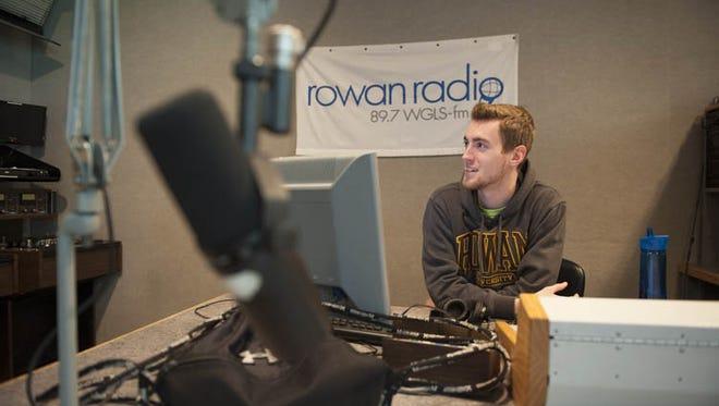 Radio/Television/Film major Ricky Schuh, 21, of Mount Holly, edits his sports podcast for Rowan Radio 89.7 WGLS-FM in the studio on Rowan Unitversity's campus. Friday, October 17, 2014.