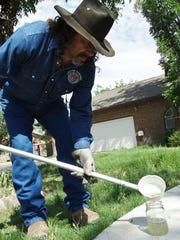 Joe Franco, Doña Ana County Vector Control technician,
