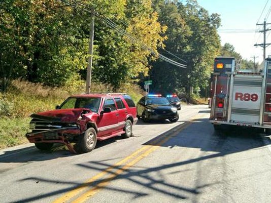 A crash has closed the Susquehanna Trail in Manchester Township, police say