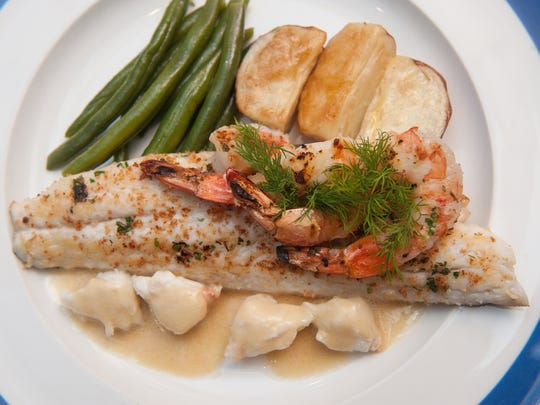 Branzino with shrimp and crab  dish is on the menu at Nunzio Ristorante Rustico in Collingswood.
