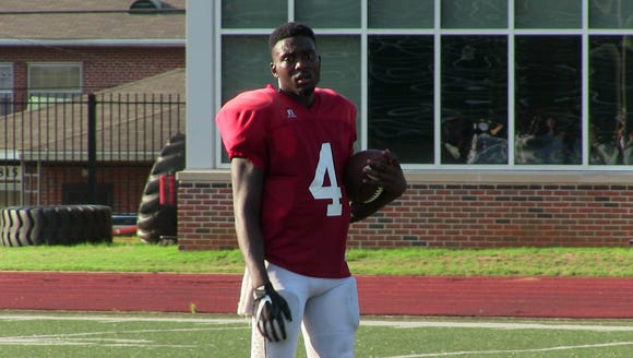Alabama State quarterback Jujuan Young-Battle is vying