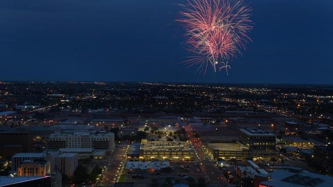 Fireworks light up the night sky during a July 2017 fireworks show in downtown Amarillo. Area medical professionals are encouraging individuals to take extra precautions while celebrating the Fourth of July this weekend.